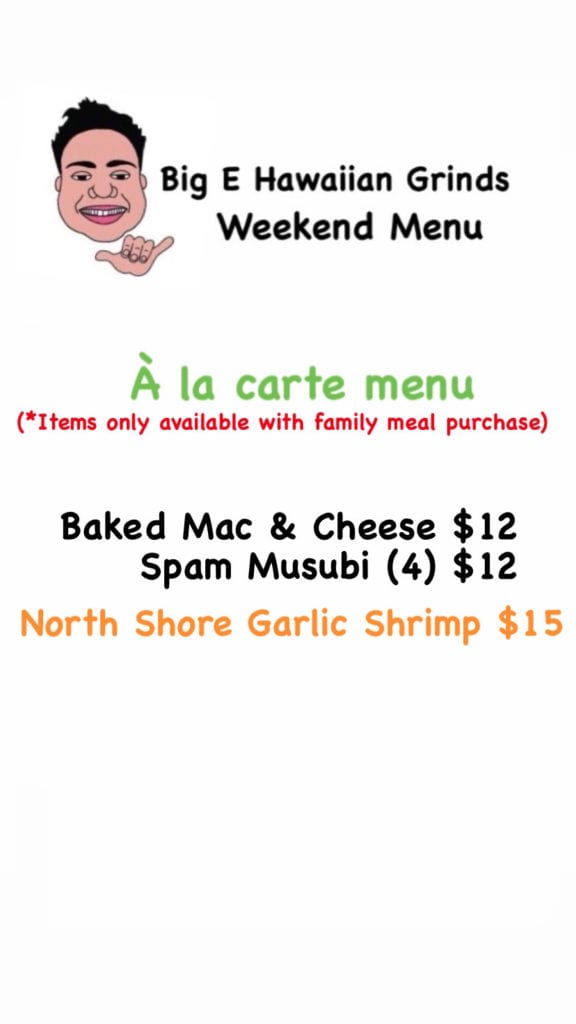 Sample Weekly Menu